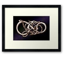 Viking Dragon in metal Framed Print