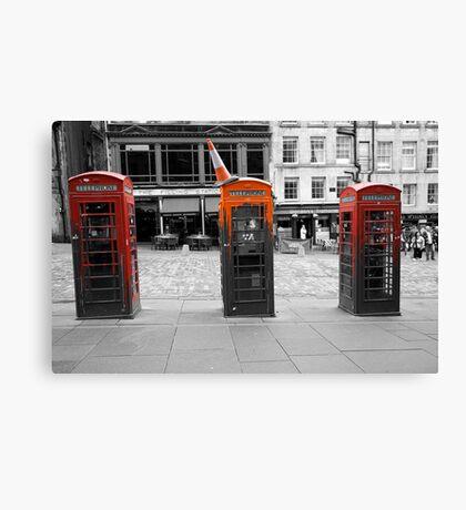 Telephone Trio Canvas Print