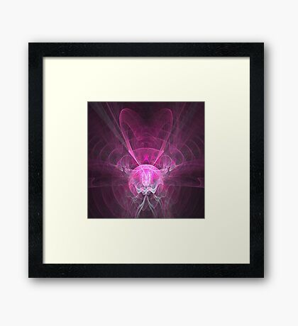 Abstract pink magic Framed Print