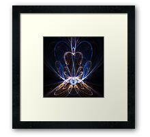 Abstract sapphire jewel Framed Print