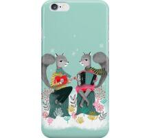 Squirrels' Christmas by Andrea Lauren  iPhone Case/Skin