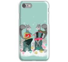Squirrels' Christmas by Andrea Lauren  iPhone Case/Skin