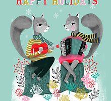 Squirrels' Christmas by Andrea Lauren  by Andrea Lauren