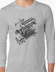 TC24-B1 Exploded View Long Sleeve T-Shirt