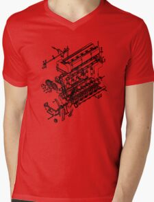 TC24-B1 Exploded View Mens V-Neck T-Shirt