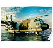 C-130K Hercules C.1K XV213 at RAF Stanley Poster