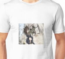 Anime girl with gun Unisex T-Shirt