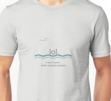 It isn't funny when stickmen drown Unisex T-Shirt