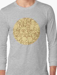 Wild animals pattern Long Sleeve T-Shirt