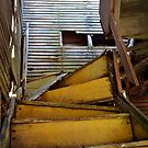 Stairs to the second floor by Heather Crough