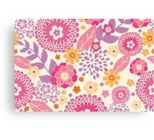 Magical flowers pattern Canvas Print