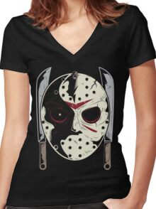 Jason Voorhees Women's Fitted V-Neck T-Shirt