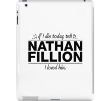 "Nathan Fillion - ""If I Die"" Series (Black) iPad Case/Skin"