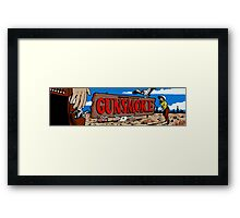 Gunsmoke Arcade Framed Print