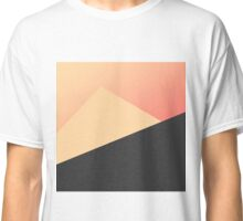 Simple Minimal Peach, Coral, & Black Geometric Classic T-Shirt