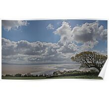 Low tide on the Cumbria coast Poster