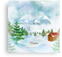 Winter Christmas & New Year Canvas Print