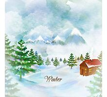 Winter Christmas & New Year Photographic Print