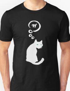 Cat thinking about Pi Unisex T-Shirt