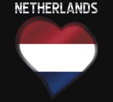 Netherlands - Dutch Flag Heart & Text - Metallic by graphix