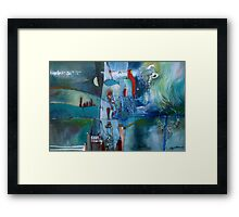 Opposing Thoughts Framed Print