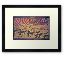 Obey the Imperial Framed Print