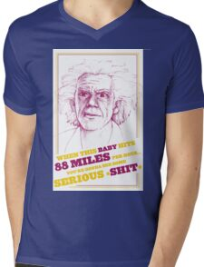 BACK TO THE FUTURE- DOC BROWN Mens V-Neck T-Shirt