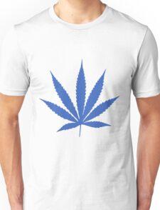 Blue Pot Leaf Unisex T-Shirt