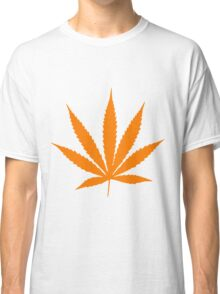 Orange Pot Leaf Classic T-Shirt