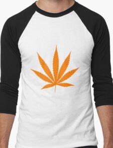 Orange Pot Leaf T-Shirt