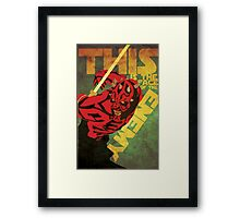 This is the Face of the Enemy Framed Print