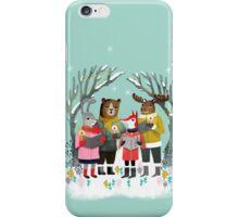 Woodland Christmas Carols by Andrea Lauren  iPhone Case/Skin