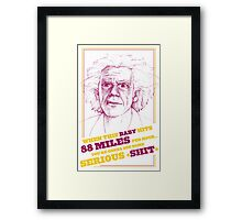 BACK TO THE FUTURE- DOC BROWN Framed Print