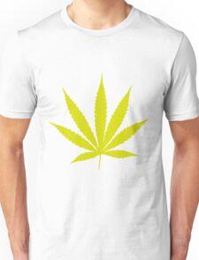 Yellow Pot Leaf Unisex T-Shirt