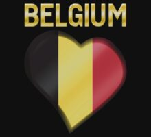 Belgium - Belgian Flag Heart & Text - Metallic by graphix