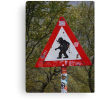 Beware of Trolls Canvas Print