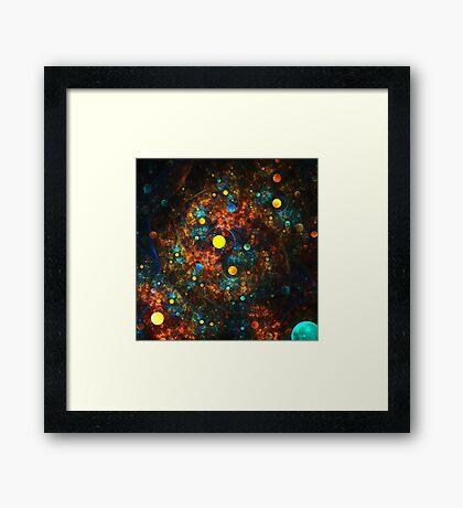 """""""Celestial Gumballs"""" (square) Framed Print"""