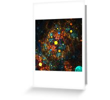 """Celestial Gumballs"" (square) Greeting Card"