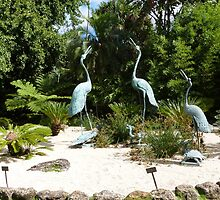 'Dancing Brolgas' Feature, Geelong Botanic Gardens. by Rita Blom
