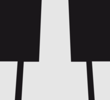 Perspective Piano Keys Design Sticker