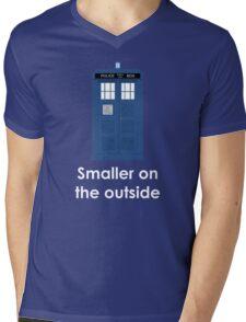 Tardis smaller on the outside Mens V-Neck T-Shirt