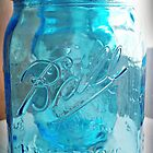 Blue Mason Jar by Sue Ellen Thompson