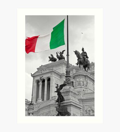 Flag Of Italia Art Print