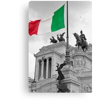 Flag Of Italia Canvas Print