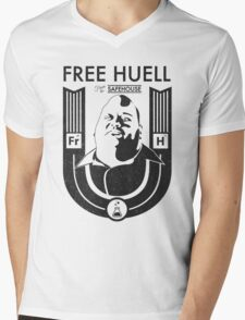 Free Huell Mens V-Neck T-Shirt