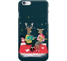 Reindeer Christmas Carols by Andrea Lauren  iPhone Case/Skin