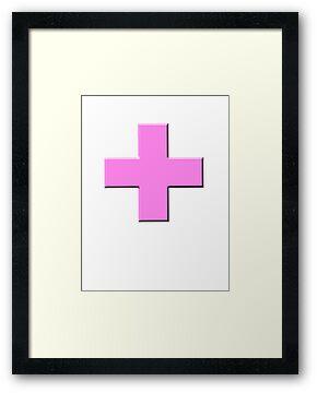 Pink Breast Cancer Awareness Cross (d) by HighDesign