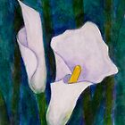 Callas lilies II by Madalena Lobao-Tello