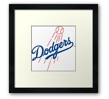 los angels dodgers Framed Print