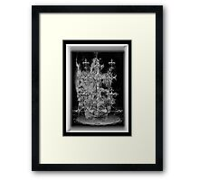 ©DA Cross Of Thor Fractal IIIA Monochrome Framed Print
